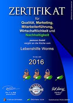 Das Kessel Zertifikat Worms 2016